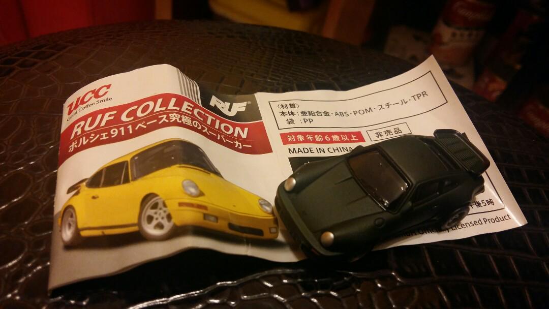 全新日本UCC咖啡贈送波子跑車模型車仔綠色930