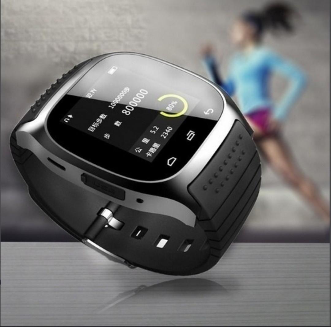 fd51fc39a06 Waterproof Smartwatch M26 Bluetooth Smart Watch With LED Alitmeter ...