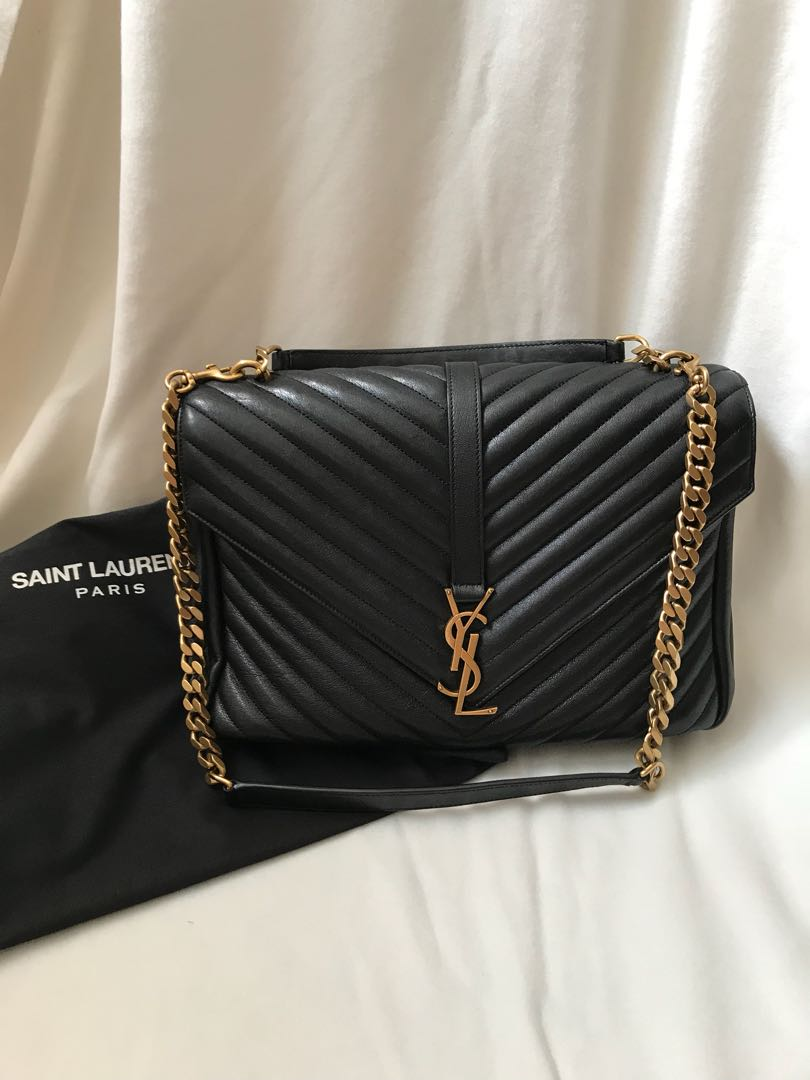 YSL College Bag Black 1a017ef219461
