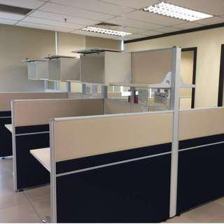 1 SET Office Partitions Workstation + Tables