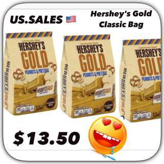 Hershey's Gold Peanut & Pretzels Classic Bag from 🇺🇸