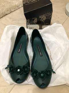 Melissa 墨綠色膠鞋
