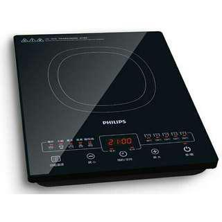 🚚 5檔火力選擇/5大烹飪功能 飛利浦 黑微晶智慧變頻電磁爐 HD4925