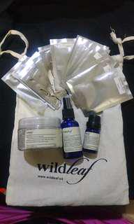 Wildleaf US Clay Mask, Vitamin C Serum and Spot Solution