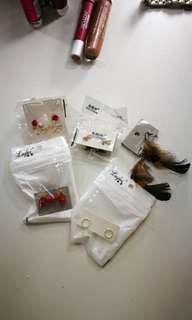 Various earrings