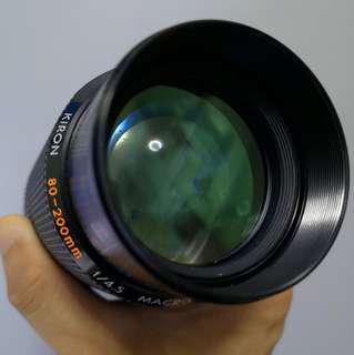 Kiron 80-200mm F4.5 macro zoom (Minolta MD mount)