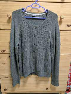 Esprit Grey Knitted Cardigan/Sweater