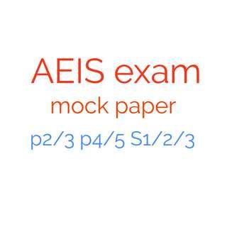 AEIS exam paper mock English