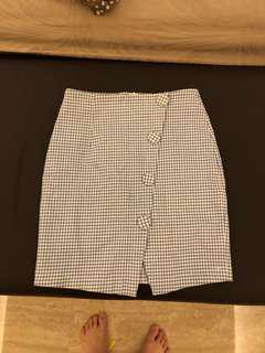 NEW blue checkered skirt
