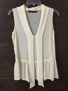 Zara Sleeveless Chiffon Top