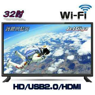 全新互聯網32吋電視破盤價5990看電視不用錢