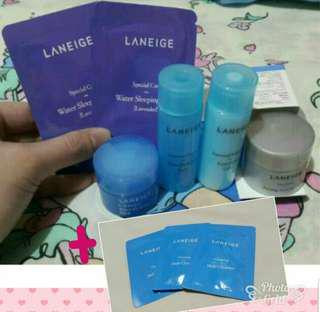 🚚 6+3件組  LANEIGE 旅行組 化妝水/乳液/晚安面膜/洗面奶