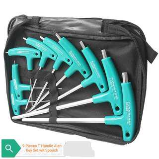 Allen Key - 9 Piece Set with storage pouch