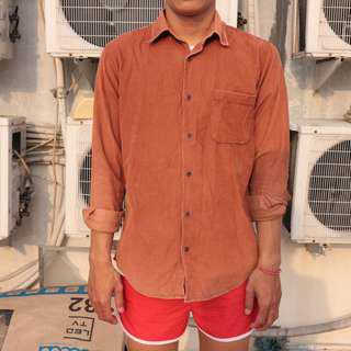 corduroy brown shirt