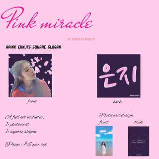 💖 PINK MIRACLE 💖  — Fanproject for APINK's EUNJI