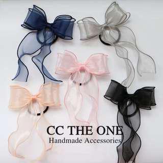 訂造 蝴蝶結 絲帶 頭飾 髮夾橡筋