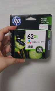 HP PRINTER  colour  INK CARTRIDGE 62XL
