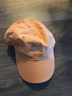 Peach OBEY hat cap