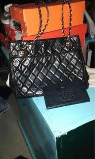 Authentic chanel bundle bag and wallet