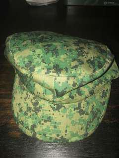 Good condition SAF Singapore Armed Forces Army jockey cap and corporal rank for sale