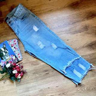 Kirin Kirin Denim Tattered Square Pants