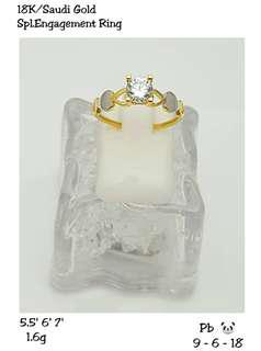 18k SD Engagement Ring