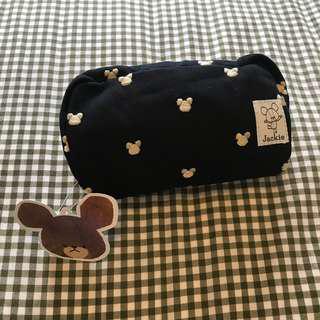 The Bears' School pouch/化妝袋 黑