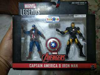 Marvel Legends 3.75 Captain America & Iron Man 2-pack