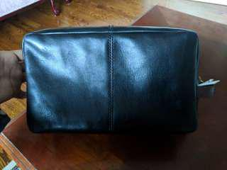 NWT Fossil Black Leather Travel Kit