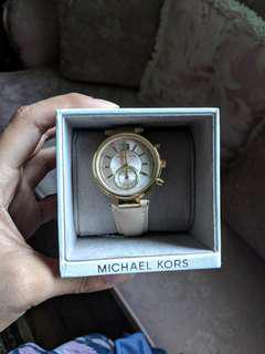 NWT Women's Gold Michael Kors Leather Watch