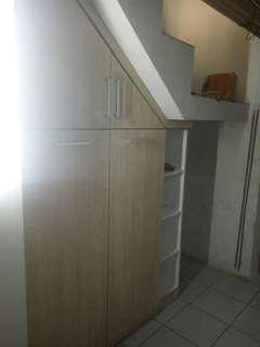 Kitchenset, lemari baju, lemari pakaian, lemari dapur, lemari bawah tangga, backdrobe, partisi, tralis plapon dll