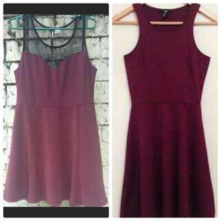 Bundle of 2 H&M Dark Purple Dress