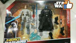 Star Wars Hero Mashers Luke Skywalker vs Darth Vader pack