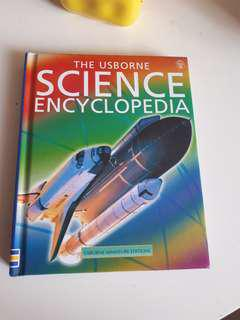The Usborne Science Encyclopedia hard cover books for sale.
