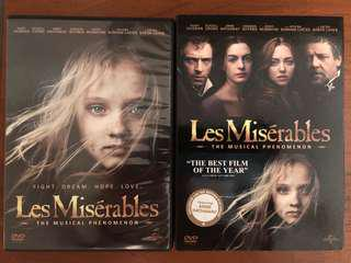 Les Miserables movie musical dvd