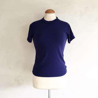 Blue ribbed shirt