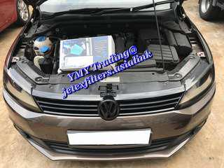 #jetexfilters_vw. #jetexfiltersasialink. Jetta Single turbo 1.4tsi on site replacement of Jetex high flown performance drop in air filter with 1.14 KPA flow rate washable & reusable air filter.