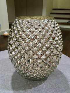 H&M Home large textured glass vase