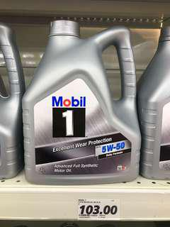 Authentic Mobil 1 Mobil One 5W50 Fully Synthetic Engine Oil