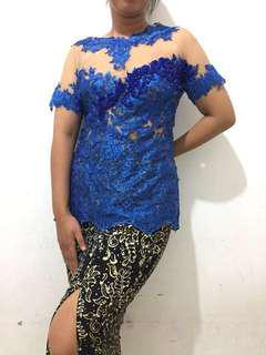 Kebaya Biru Electric