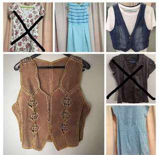 Ladies tees, vests, dress