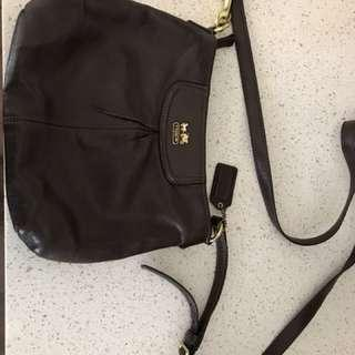 REDUCED Coach Brown Leather Crossbody