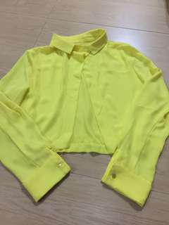 Kemeja crop kuning