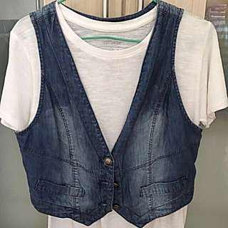 Girl's Denim Vest Iora