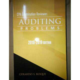 Auditing Problems CPA Examination Reviewer 2018-2019 ed Roque