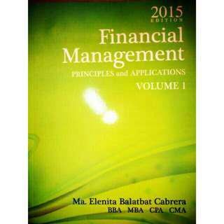 Financial Management Principles and Applications 2015 ed Cabrera Textbook Book Cpa