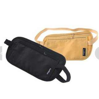 2pcs Invisible Anti-theft Waist Pack Passport Travel Bag