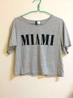 H&M Divided MIAMI Grey T-shirt