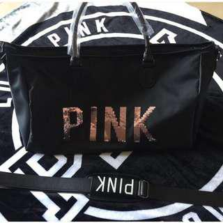VS SHINY PINK TRAVEL BAG