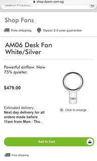 Dyson desk fan (collect in Harvey Norman)